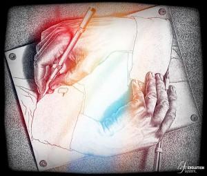 Disegno di Escher - Costruttivismo e Ipnosi